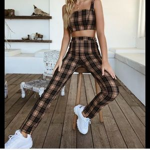 Tiger Mist Marcelle Tan high waisted pants